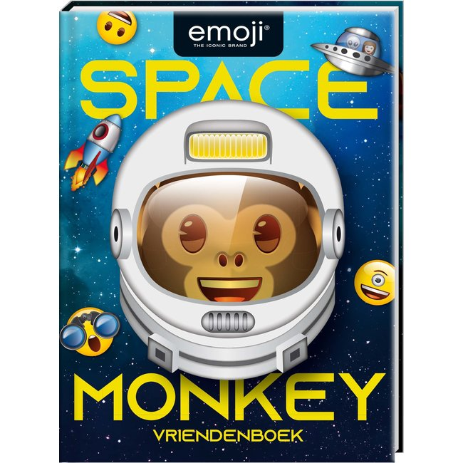 Inter-Stat Emoji Space Monkey Vriendenboekje