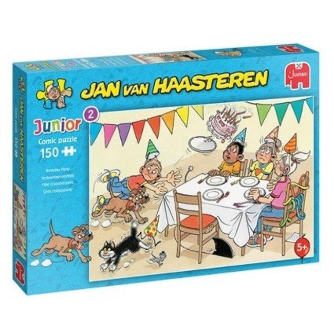 Verjaardagspartijtje - Jan van Haasteren Junior Puzzel 150 Stukjes