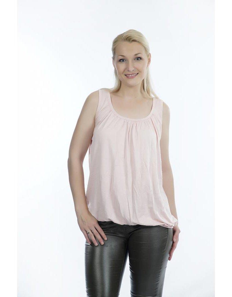 Topje roze met elastiek aan de onderzijde