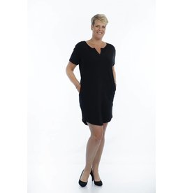 Zwarte tuniek / jurk met V-hals