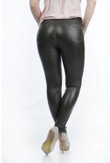 Legergroene stretch broek met ritssluiting