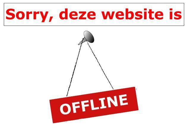DEZE WEBSHOP IS TIJDELIJK OFFLINE