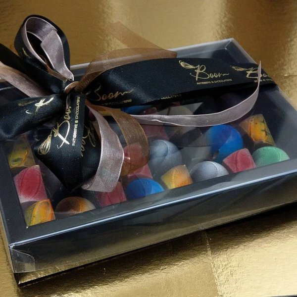 Patisserie & Chocolaterie Boom Bonbon Window Box Noir Grand