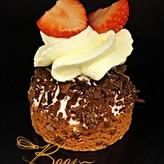 Patisserie & Chocolaterie Boom Aardbei bavaroise slofje
