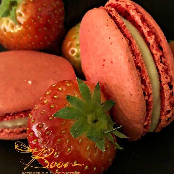 Patisserie & Chocolaterie Boom WEBSHOP: MACARON AARDBEI