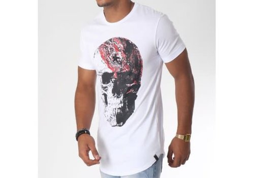 UNIPLAY UNIPLAY  COLOR SKULL T-SHIRT - WIT