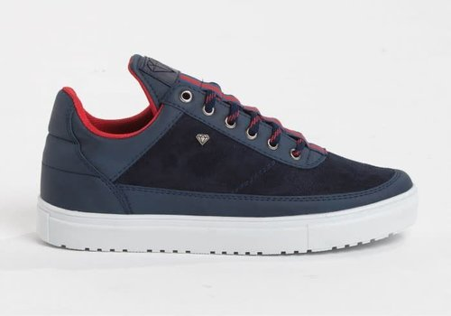CASH MONEY CASH MONEY HOGE SNEAKER LINE - BLAUW/ROOD (CMS11)