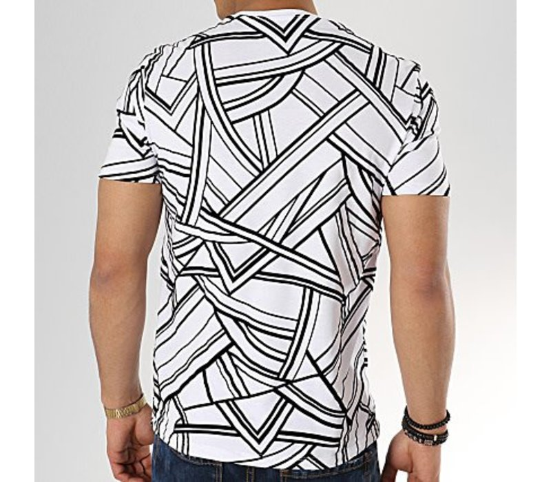 UNIPLAY ABSTRACT T-SHIRT - WIT (UY334)