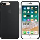 A-pple Apple silicone hoesje zwart voor Apple iPhone 7 Plus / 8 Plus