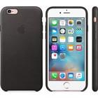 A-pple Apple iPhone 6/6S lederen hoesje- zwart