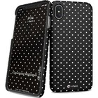 i-Paint cover Pois - zwart - voor iPhone X