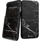 i-Paint cover marble - zwart - voor iPhone X