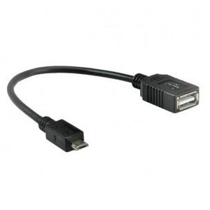 Micro USB male to USB female cable (OTG)