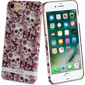 So Seven Mexico back case -burgundy - voor Apple iPhone 7;Apple iPhone 8