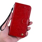 E-KINLIN Wallet Case  Flip Leather With Card Slots Holder-red- for Samsung A6 Plus 2018