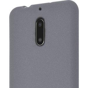 Azuri voor Nokia 6 - flexible cover with sand texture - grijs -  Opruiming