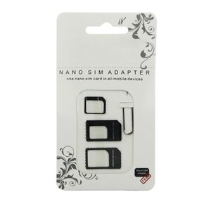 100x Nano Sim Adapter 4 in 1