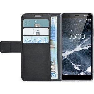 Azuri walletcase - magnetic closure & 3 cardslots - zwart - Nokia 5 (2018)