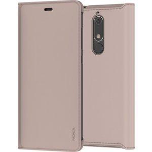 Nokia Slim Flip Case - beige - voor Nokia 5.1