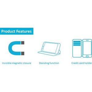 Azuri walletcase met magnetische sluiting - zwart - voor Nokia 7 plus