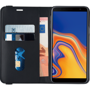 Azuri wallet case with removable magnetic cover - zwart - Samsung J4 Plus (2018)