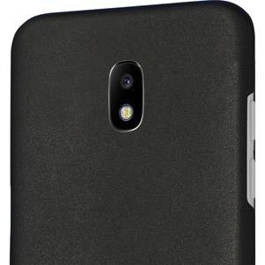 Azuri metallic cover met soft touch coating - zwart - Samsung Galaxy J3 2017