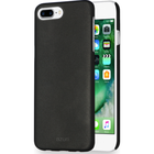 Azuri -Voor iPhone 7 Plus /8 Plus -metallic cover met soft touch coat - zwart