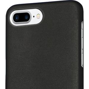 Azuri metallic cover met soft touch coat-zwart -iPhone 7 Plus /8 Plus