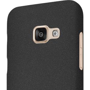 Azuri flexibele cover met sand texture - zwart - voor Samsung Galaxy A3 2017