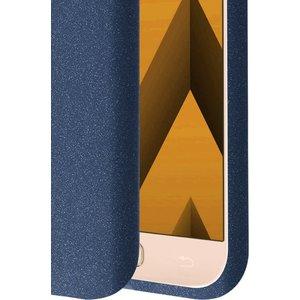 Azuri cover met zand textuur - blauw - voor Samsung Galaxy A3 2017