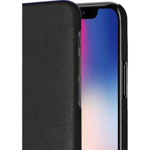 Azuri metallic cover met soft touch coating - zwart - voor iPhone X