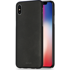Azuri metallic cover met soft touch coating - zwart - voor iPhone X
