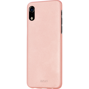 Azuri metallic cover met soft touch coating - goudroze - voor iPhone Xr