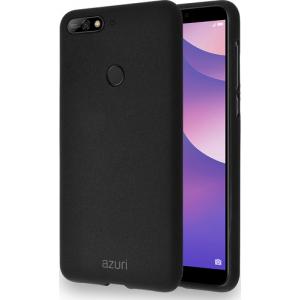 flexible cover met zandtextuur - zwart - for Huawei Y7 (2018)