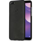 metallic cover met soft touch coating - zwart - Huawei Y7 (2018)