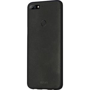 Azuri metallic cover met soft touch coating - zwart - Huawei Y7 (2018)