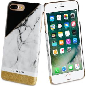 So Seven marble back case - goud - voor Apple iPhone 7 Plus /8 Plus