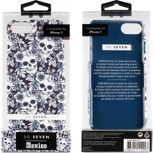 So Seven Mexico back case -blauw - voor Apple iPhone 7/8
