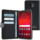 Azuri walletcase magnetic closure & cardslots - zwart - Motorola Z3 Play