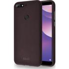 Azuri flexible cover met zandtextuur - bruin - for Huawei Y7 (2018)