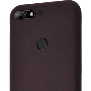 flexible cover met zandtextuur - bruin - for Huawei Y7 (2018)