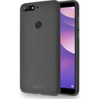 flexible cover met zandtextuur - grijs - voor Huawei Y7 (2018)