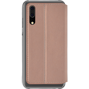 booklet transparant backcover & magnetische sluiting - roze - Huawei P20