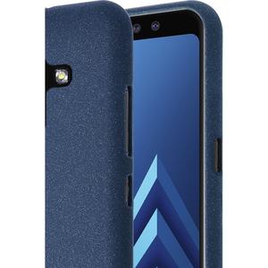 Azuri flexibele cover met zandstructuur - blauw - voor Samsung A8 (A530)