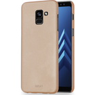 Azuri metallic cover with soft touch coating - goud - voor Samsung A8 (A530)