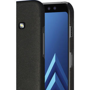 Azuri metallic cover with soft touch coating - zwart - voor Samsung A8