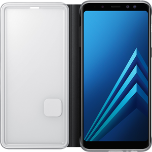 Samsung neon flip cover - zwart - voor Samsung Galaxy A8 2018 (A530)