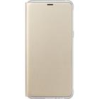 Samsung neon flip cover - goud - voor Samsung Galaxy A8 2018 (A530)