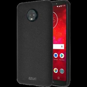 Azuri flexible cover voor Motorola Moto Z3 Play with sand texture - zwart