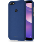 Azuri flexible cover met zandtextuur - blauw - voor Huawei Y7 (2018)